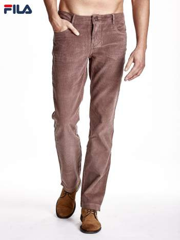 FILA Jasnobrązowe spodnie męskie sztruksowe chinosy