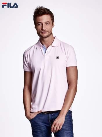 FILA Różowa koszulka polo męska