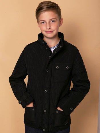 FIRETRAP Czarna pikowana kurtka chłopięca