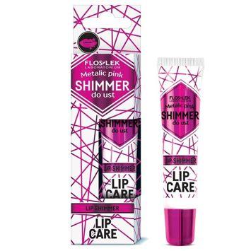 FLOSLEK LIP CARE SHIMMER do ust Metalic pink (różowy) 10 g