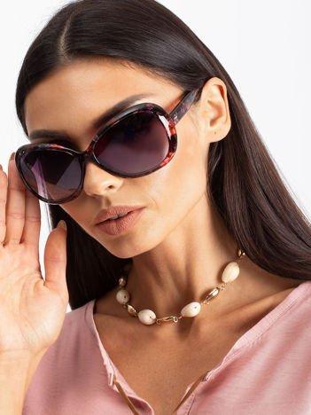 FLOWERS Damskie okulary przeciwsłoneczne typu MUCHY