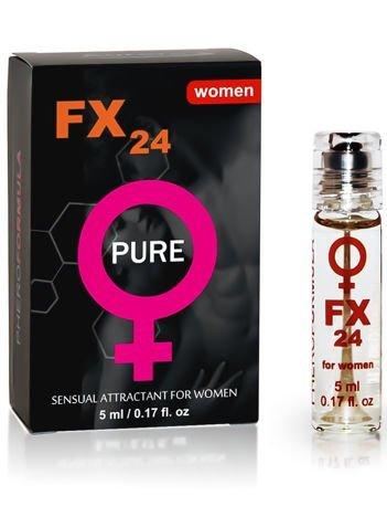 FX24 for women Specjalnie dobrany zestaw składników działa na mężczyzn niezwykle pobudzająco! Bezzapachowy. 5 ml