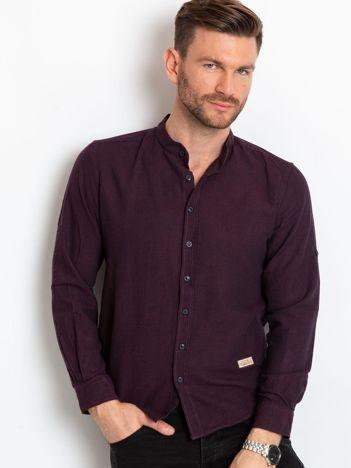 Fioletowa koszula męska Lucky