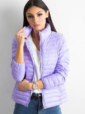 Fioletowa pikowana kurtka przejściowa