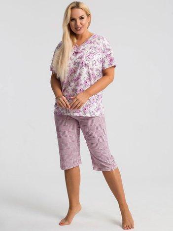 Fioletowa piżama plus size