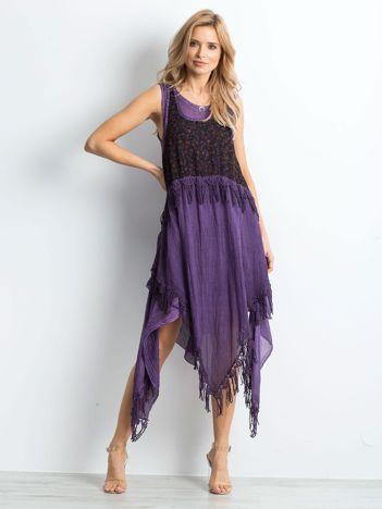 Fioletowa sukienka Spiritual