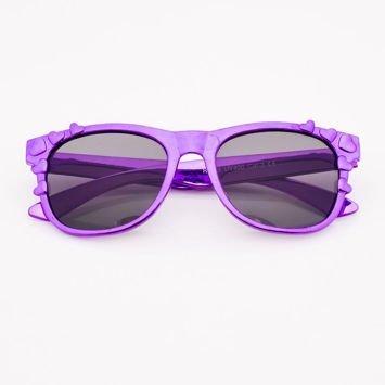 Fioletowe Dziecięce Okulary przeciwsłoneczne Z Metalicznym Połyskiem