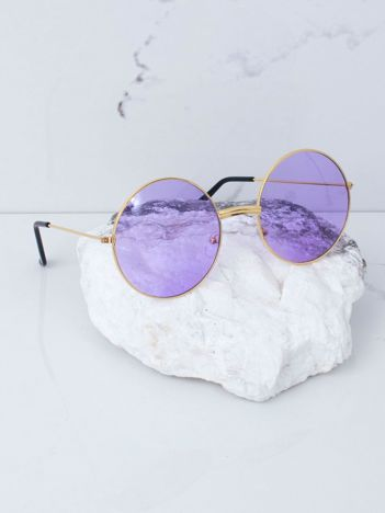 Fioletowe okulary hippie