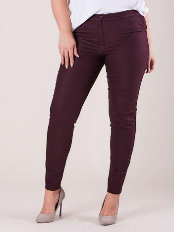 Fioletowe spodnie slim fit PLUS SIZE