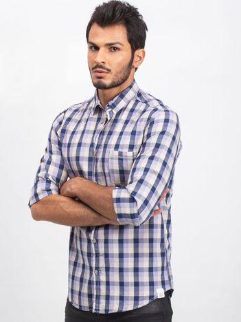 Fioletowo-granatowa koszula męska Already