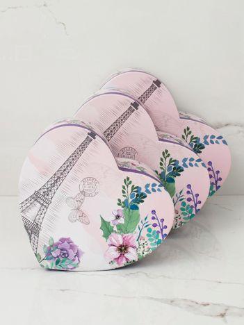 Fioletowo-różowy zestaw pudełek 3w1