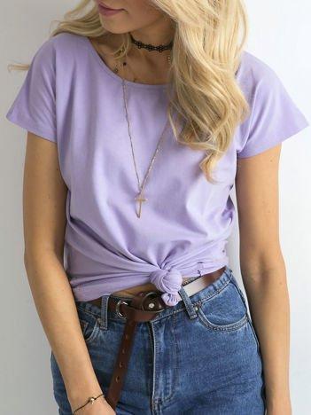 Fioletowy t-shirt basic