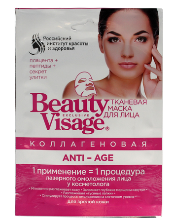 Fitocosmetics Beauty Visage Maseczka na tkaninie Anti-Age 25 ml