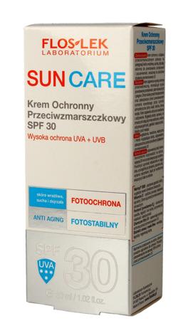Floslek Sun Care Krem ochronny przeciwzmarszczkowy SPF30  30ml