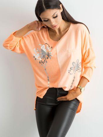 Fluo pomarańczowa damska bluzka