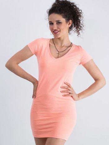 Fluo pomarańczowa sukienka Privilage