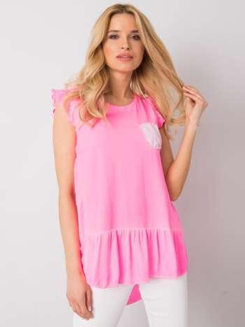 Fluo różowa bluzka damska Denelle