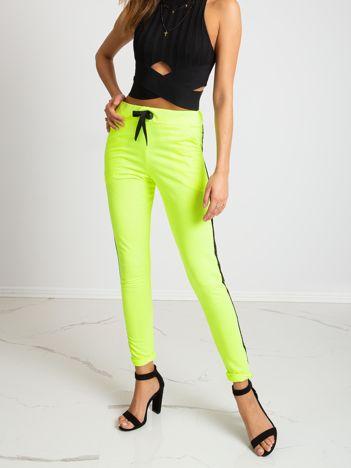 Fluo zielone spodnie Salt