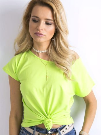 Fluo zielony t-shirt basic