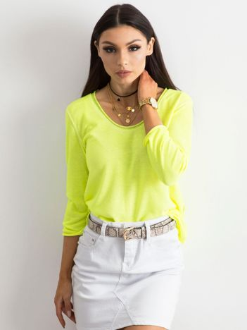 Fluo żółta bluzka damska