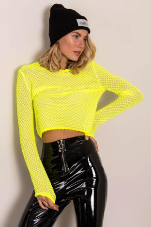 Fluo żółta bluzka damska BSL