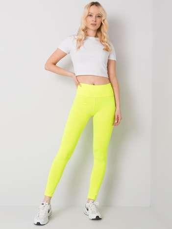Fluo żółte legginsy sportowe Leffy