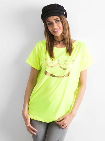 Fluo żółty t-shirt Kingdom