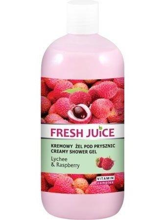 Fresh Juice Żel pod prysznic kremowy Liczi i Malina 500 ml