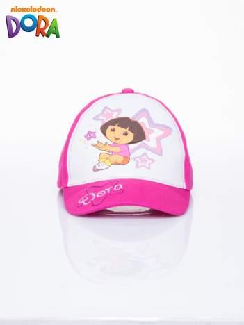 Fuksjowa czapka z daszkiem dla dziewczynki DORA