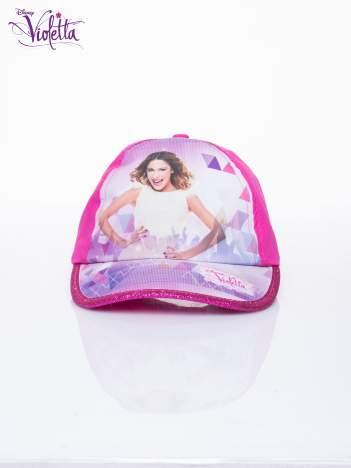 Fuksjowa czapka z daszkiem dla dziewczynki VIOLETTA