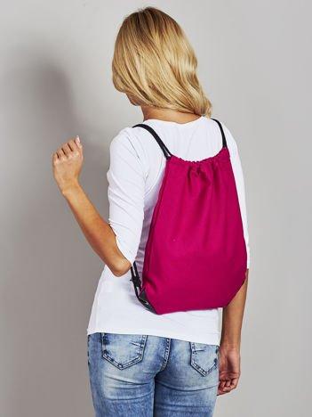 Fuksjowy płócienny plecak worek