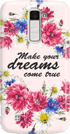 Funny Case ETUI LG K10 DREAMS FLOWERS