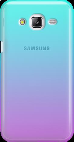 Funny Case ETUI SAMSUNG J5 J500 OMBRE BLUE