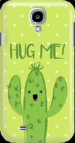 Funny Case ETUI SAMSUNG S4 CACTUS HUG ME