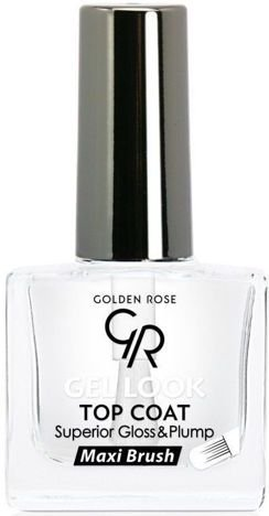 GOLDEN ROSE Gel Look Top Coat Żelowy utwardzacz 10,5 ml