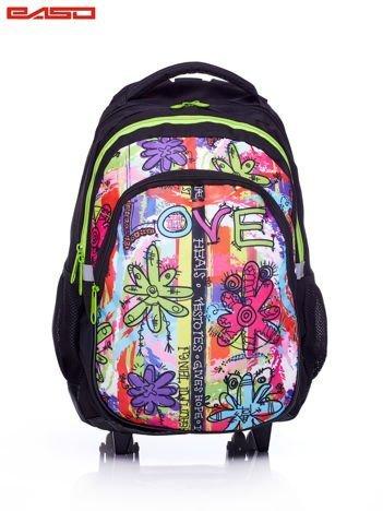 bcefe60ba5e47 Plecak szkolny na kółkach z graficznym nadrukiem