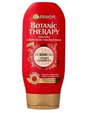 Garnier Botanic Therapy Odżywka do włosów farbowanych i z pasemkami Żurawina i Olejek Arganowy 200 ml