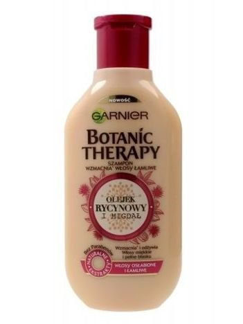Garnier Botanic Therapy Szampon do włosów osłabionych i łamliwych Olejek Rycynowy i Migdał  250 ml