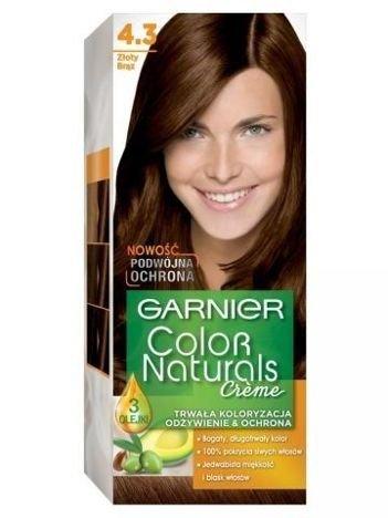 Garnier Color Naturals Krem koloryzujący nr 4.3 Złoty Brąz