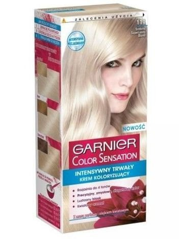 Garnier Color Sensation Krem koloryzujący do włosów 111 Srebrny Superjasny Blond