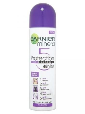 Garnier Mineral Protection 5 Antyperspirant w sprayu Floral Fresh  150 ml