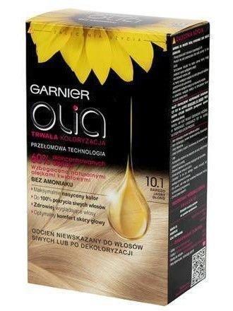 Garnier Olia Farba do włosów nr 10.1 Bardzo Jasny Popielaty Blond
