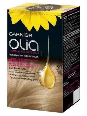 Garnier Olia Farba do włosów nr 9.1 Popielaty Bardzo Jasny Blond
