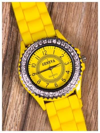 Geneva zegarek damski  z cyrkoniami na tarczy