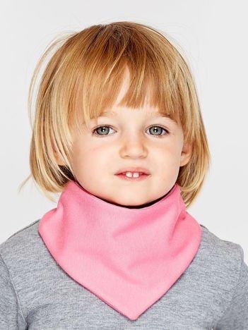 Gładka chustka na rzep dla dziewczynki różowa