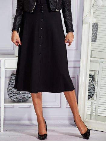 Gładka spódnica z guzikami czarna