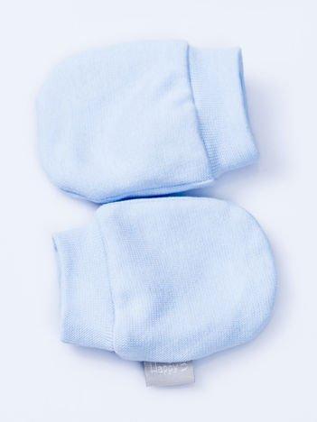 Gładkie jasnoniebieskie rękawiczki dziecięce