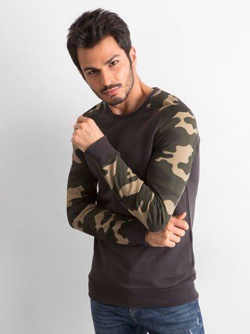 Grafitowa bluza męska z bawełny