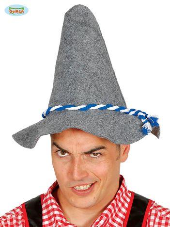 Grafitowy filcowy kapelusz na imprezę