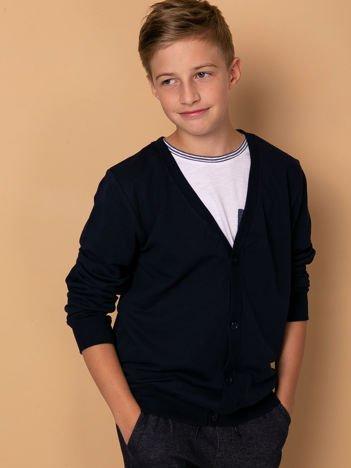 Granatowa bawełniana bluza dla chłopca